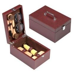 TARRAGO Skrzynka drewniana brązowa - zestaw do butów