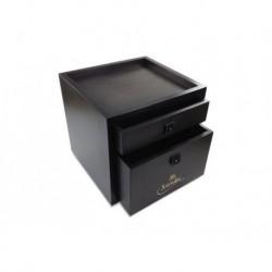 SAPHIR MDOR Zestaw 31x31x31cm  Drowers Box Black do pielęgnacji obuwia, z wyposażeniem