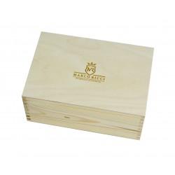 Marco Ricci firmowe drewniane pudełko 20x30x13,6, grawerowane logo