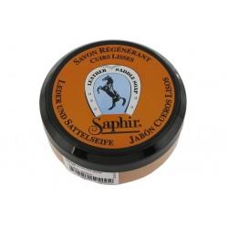 Regenerujące mydło do skór + gąbka - ETALON NOIR 100ml SAPHIR